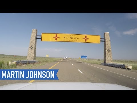 American Road Trip Hyperlapse 2238 miles on i-40 from Tennessee to California