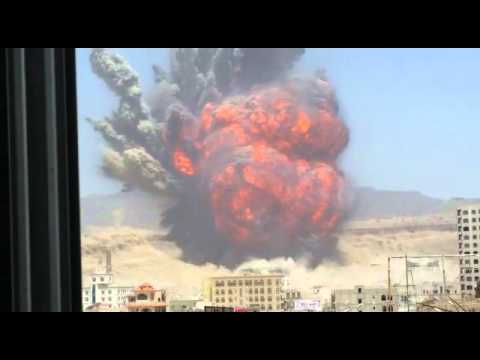 Bombing Faj Attan in Sana'a, Yemen