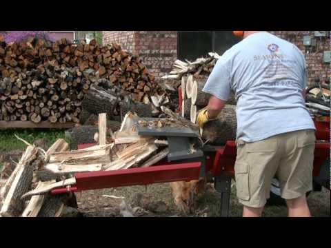 2/3 Splitting White Oak Firewood With Timberwolf TW7