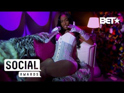 Kash Doll Gives Cookie Lyon Realness In Floor-Length Fur   BET Social Awards