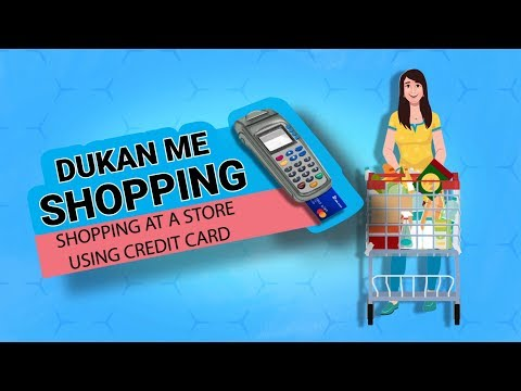 Shopping at a store using your Credit Card