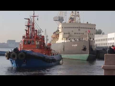 видео: 20140920 Буксировка ледокола Красин на ремонт hd cc-by