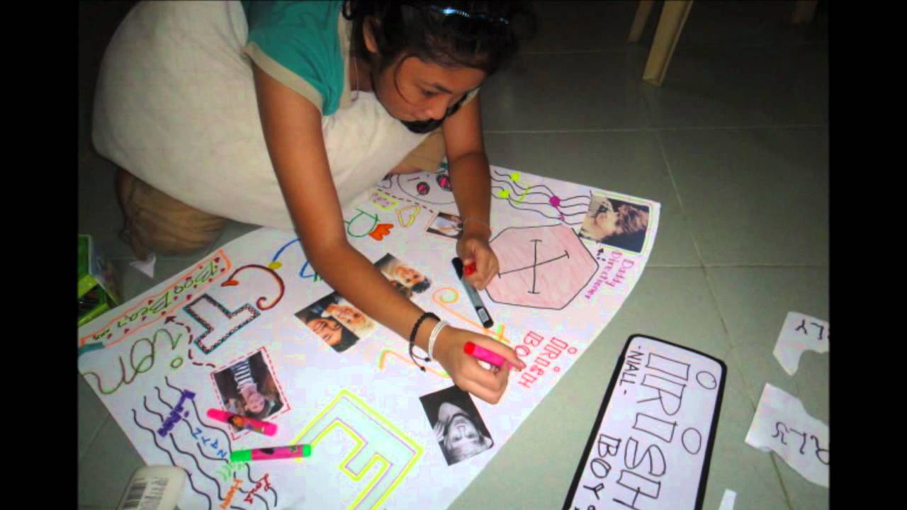 Making our own 1D Poster - YouTube