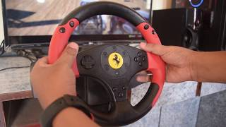 Thrustmaster Ferrari Red Legend Racing Wheel Review & Unboxing