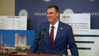 Gov. Stitt press conference on gaming compact negotiations
