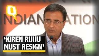 The Quint|  450 Crore Scam: Congress Demands Resignation of Kiren Rijiju