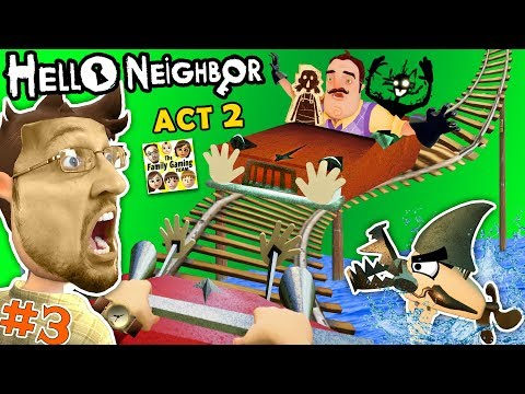ESCAPE HELLO NEIGHBOR PRISON: FGTEEV ACT 2 - Roller Coaster,
