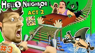 ESCAPE HELLO NEIGHBOR PRISON FGTEEV ACT 2 Roller Coaster, Shark Doll House Full Game Part 3