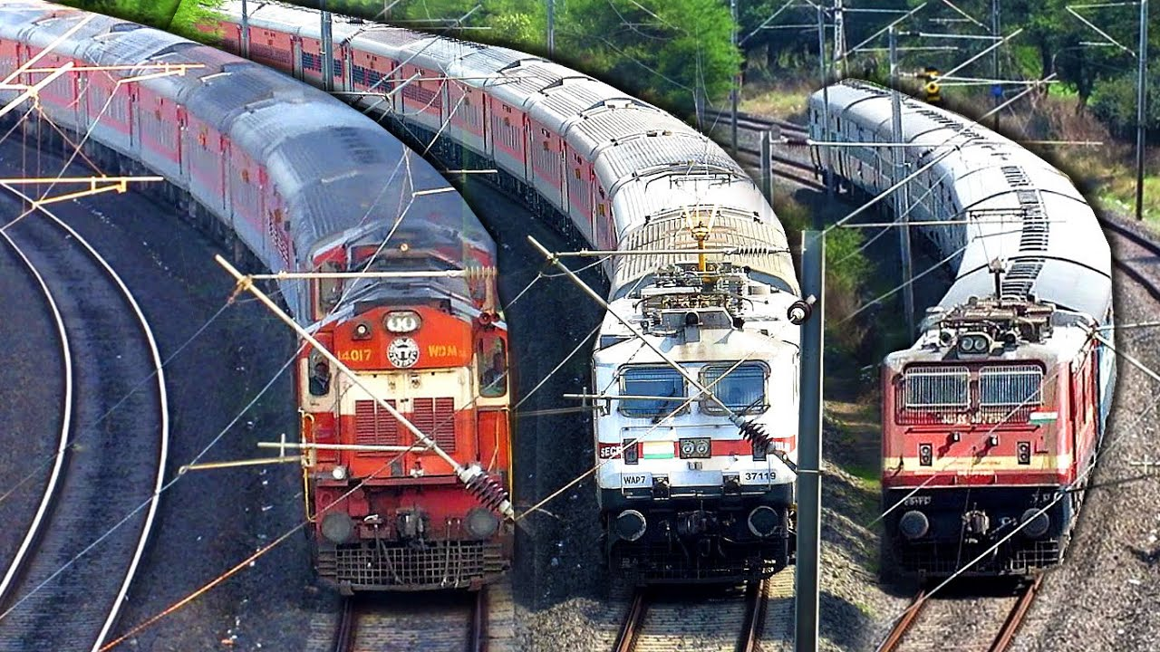Superfast & Express trains negotiating curve | Ratlam - Indore | Madhya Pradesh