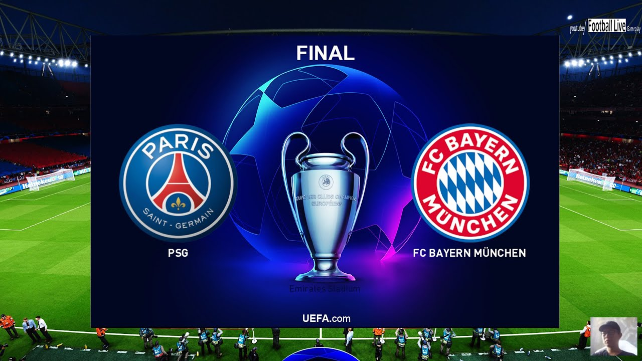 Uefa Champions League Final Paris Saint Germain Vs Bayern Munich Pes 2020 Gameplay Pc Youtube