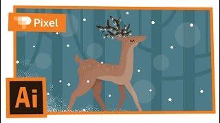 Рисуем новогоднюю открытку в Adobe Illustrator | уроки для новичков