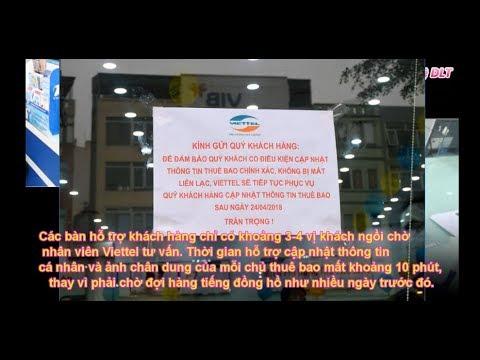 Các cơ sở Viettel Hà Nội vắng vẻ trong ngày đầu lùi hạn bổ sung thông tin thuê bao