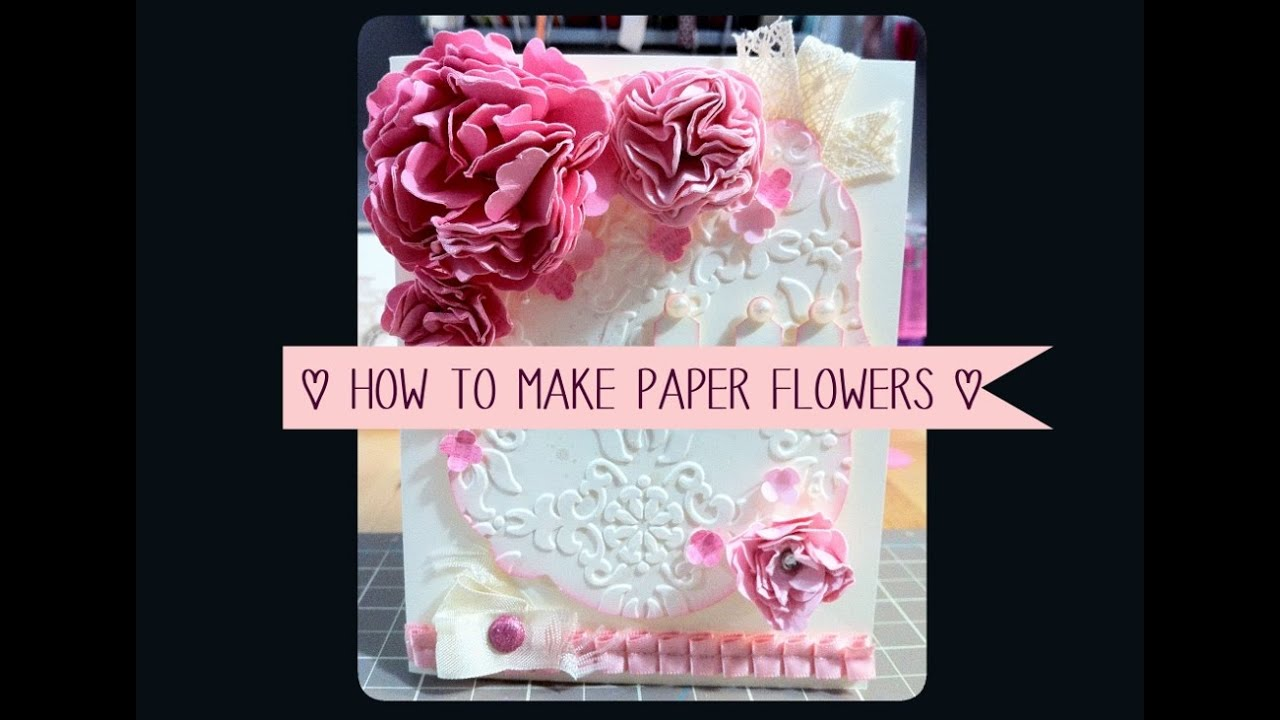 How to make paper flowers beauitul easy youtube mightylinksfo