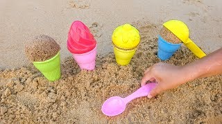 Milusik Lanusik Plays with colored Ice Cream Toys