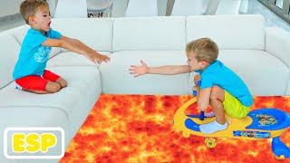El piso es lava con Vlad y Niki