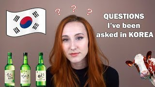 8 QUESTIONS I've been asked in KOREA, CZ