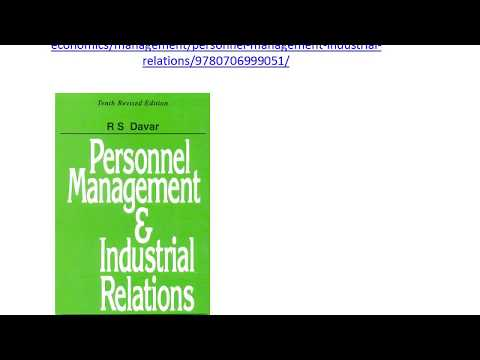 Management of Industrial Relation Buy Book from Link Given in Description