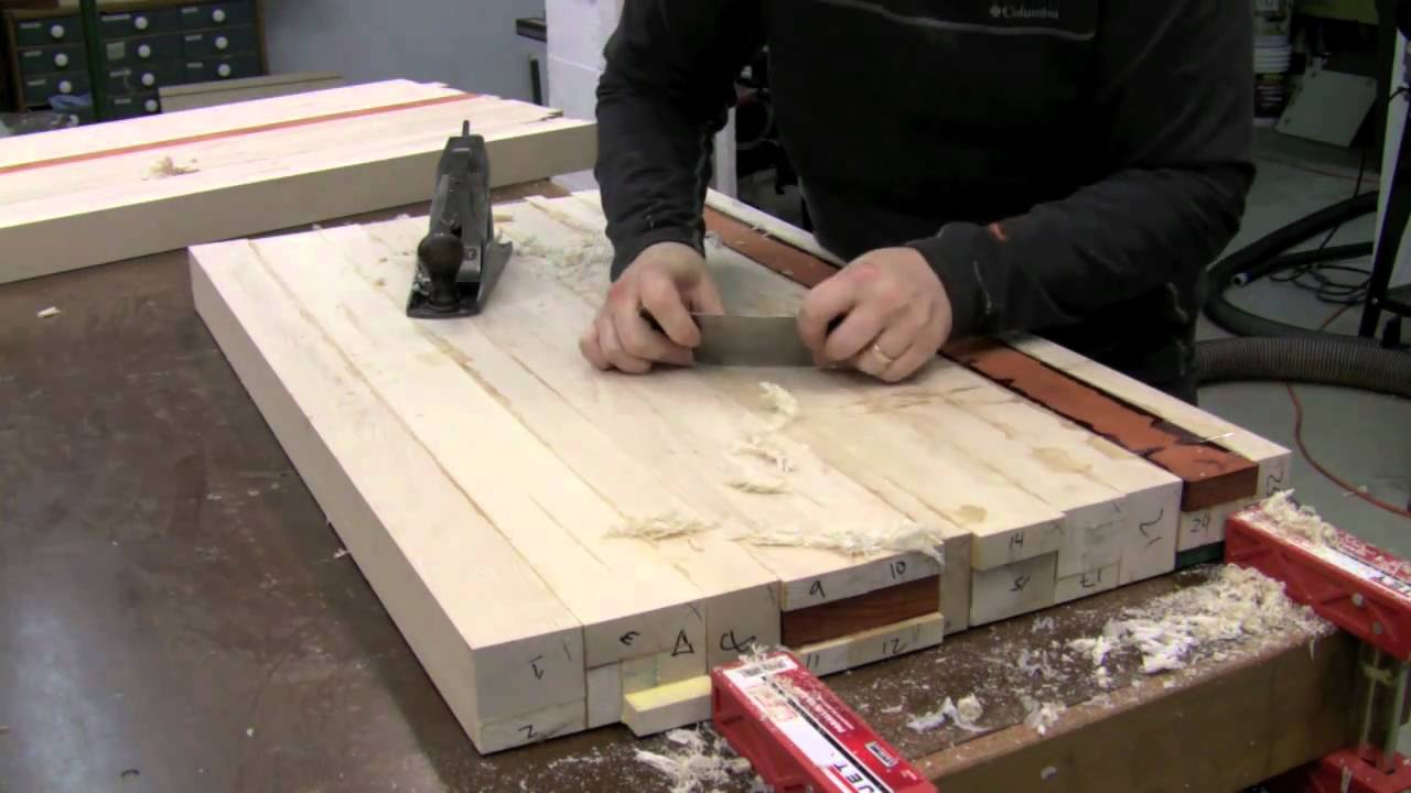 Awesome Butcher Block Countertop   Glue Up   YouTube