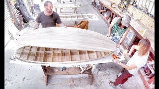 How to build a hollow wooden surfboard time lapse (FULL Process)