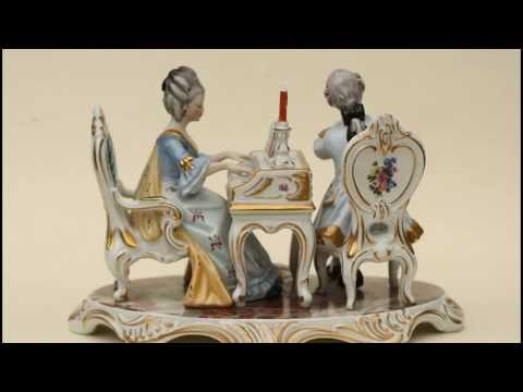 Antique Dresden Porcelain Figurine of a Young Couple