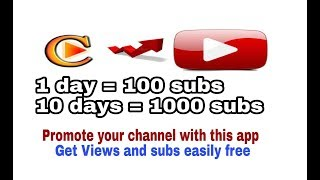Promote Your Channel With This application in 1 minute !!