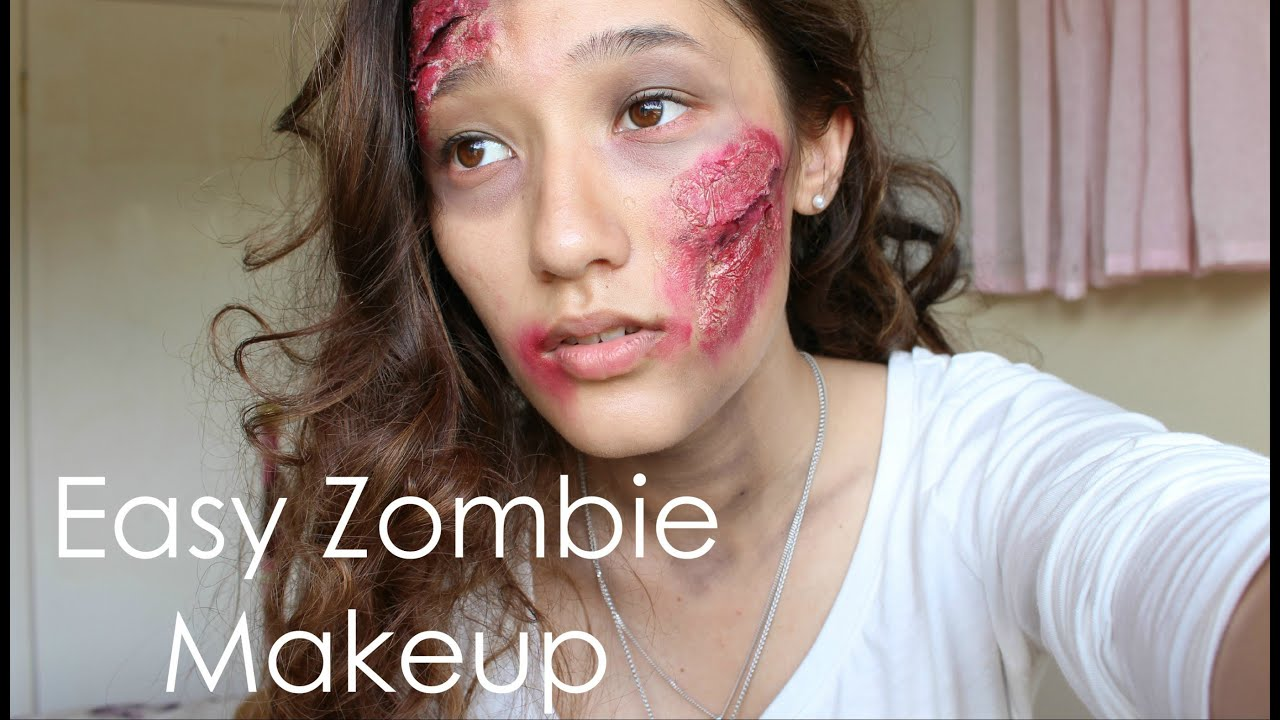 EASY ZOMBIE MAKEUP TUTORIAL FOR HALLOWEEN (If I can do it, you can)