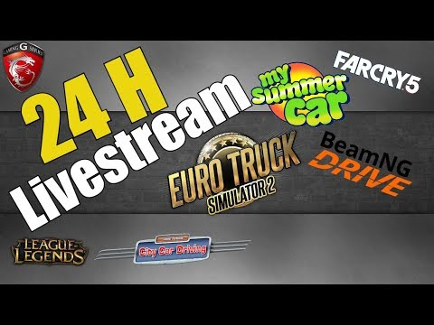 24 Stunden Livestream - Simulatoren - Action - Horror - Spaß - 24h Live