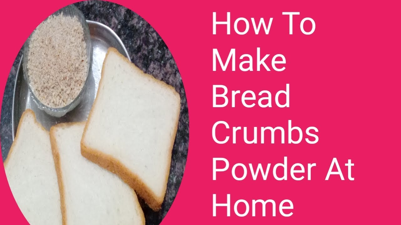 How to make bread crumbs at home |easy and quick bread crumbs