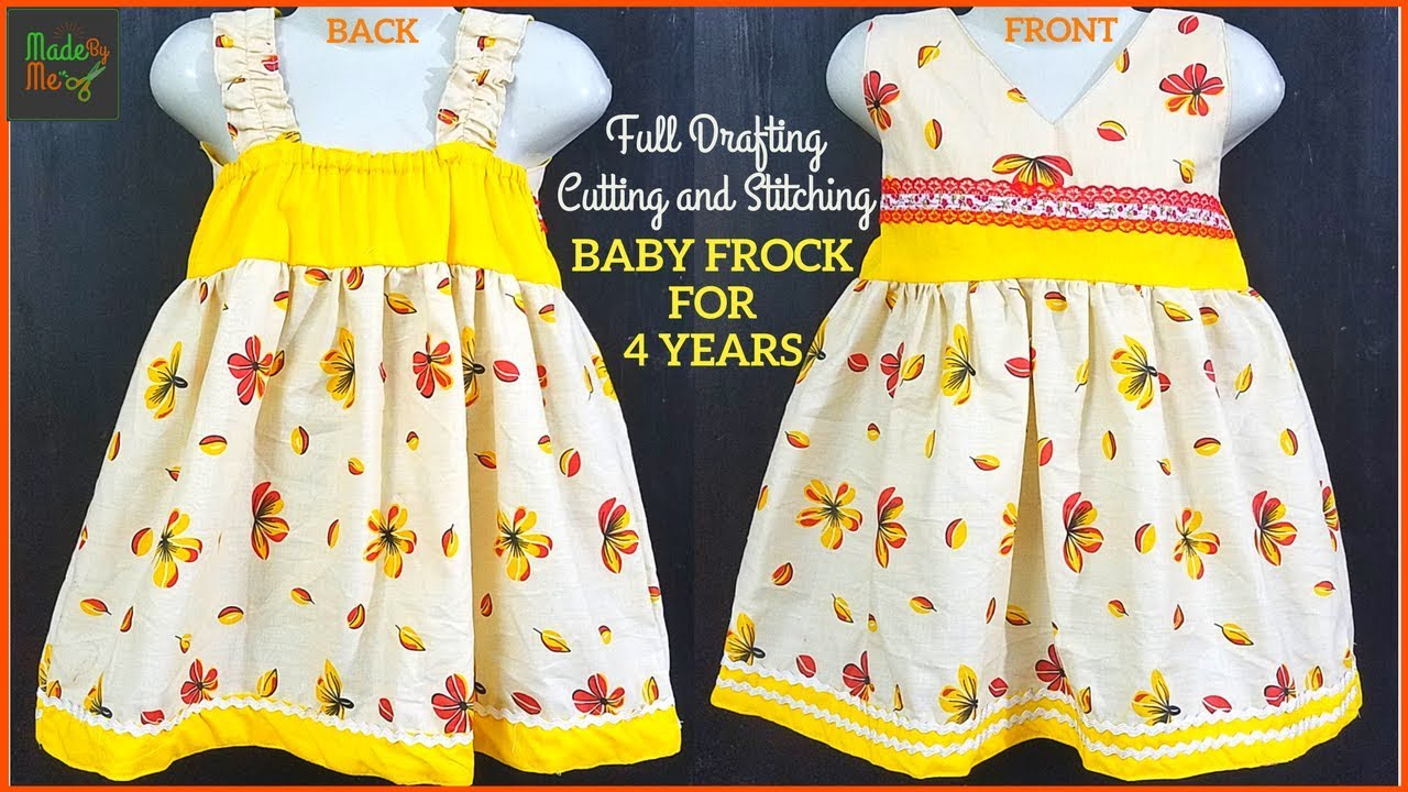 753d2e0072 4 Years BABY FROCK DRAFTING Cutting and Stitching in Hindi/Urdu