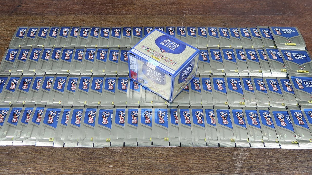 81709a431 100 PACKS! Panini World Cup Russia 2018 Stickers - YouTube