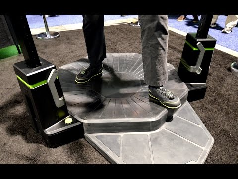 Preview: Virtuix Omni VR Treadmill, Production Model at CES 2015