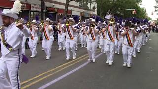 The Lesbian & Gay Big Apple Corps Marching Band performing Can't Stop The Feeling
