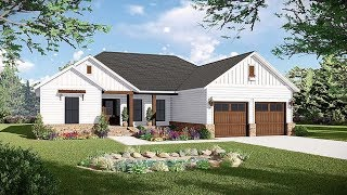 Farmhouse Style House Plan 60105 At Familyhomeplans.com