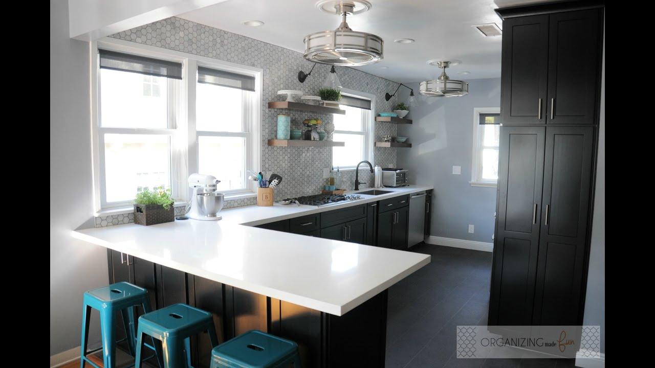 Modern Kitchen Makeovers modern kitchen makeover - youtube
