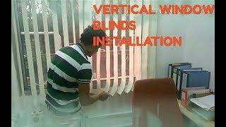 Vertical window blinds instolation