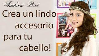 DIY Crea un lindo accesorio para el cabello (Corona-Diadema de cadenas y perlas) Thumbnail