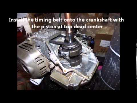 Replacing the Timing Belt on a Honda GCV160 motor  YouTube