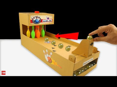 How to Make Bowling Game from Cardboard at Home 🎳