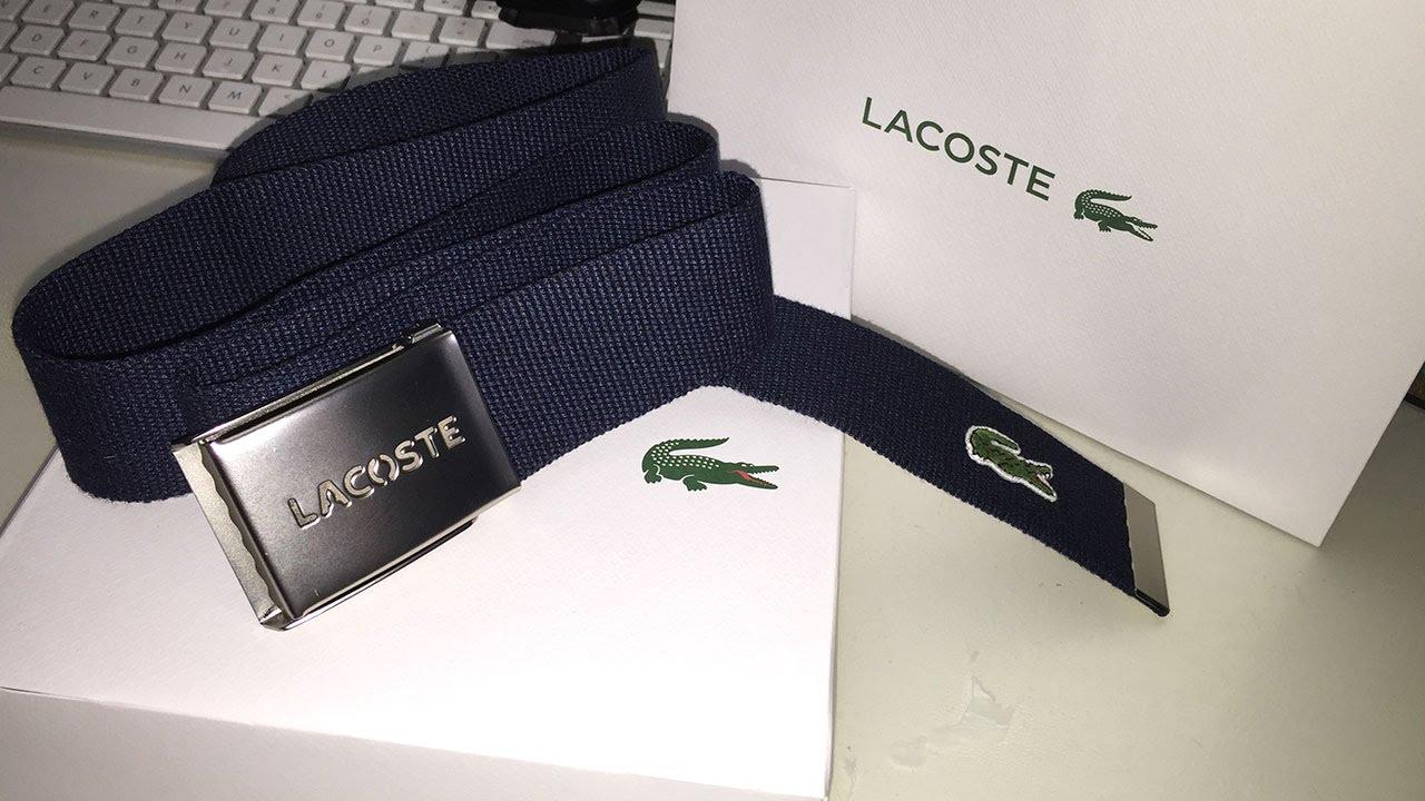 comprare popolare 0e236 29300 Unboxing Cintura LACOSTE di Tela Colore Navy