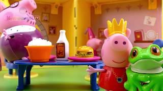 Свинка Пеппа Принцесса и заколдованный принц-лягушонок Мультик из игрушек - Серия 68