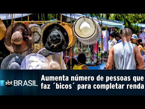 Aumenta número de pessoas que faz trabalhos extras para completar renda   SBT Brasil (23/07/18)