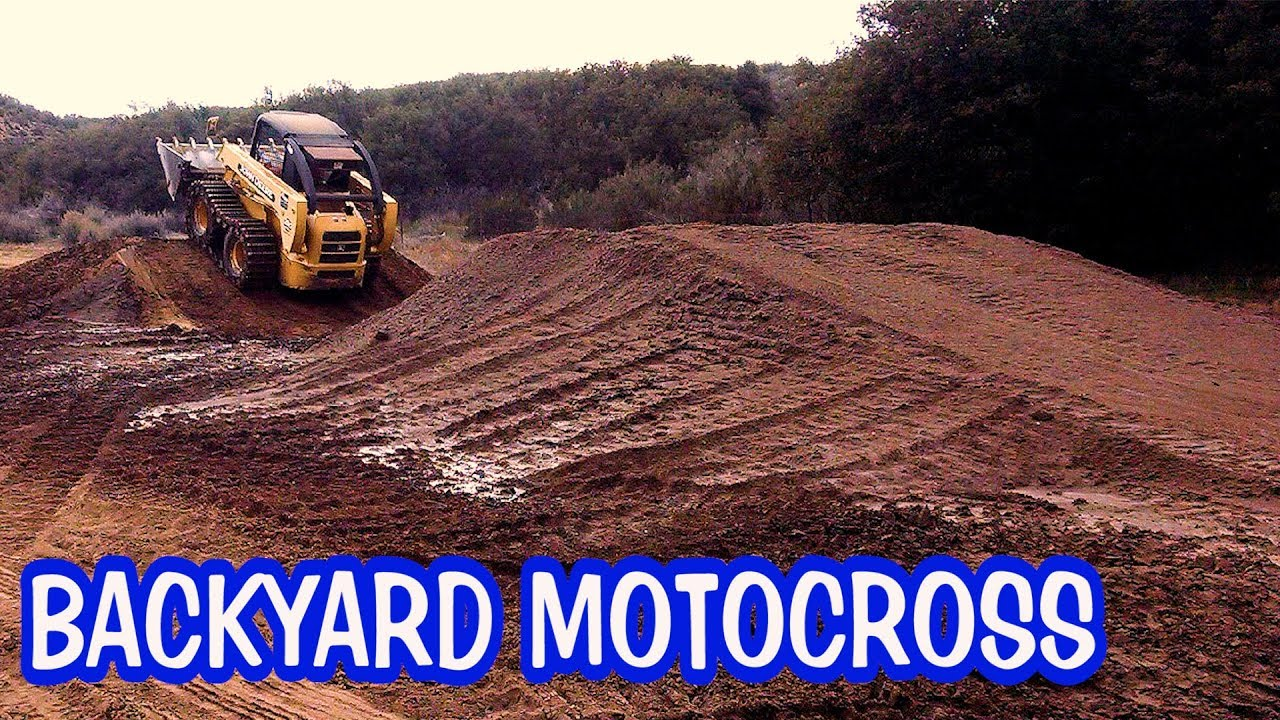 Build your own backyard motocross track - introducing my ...