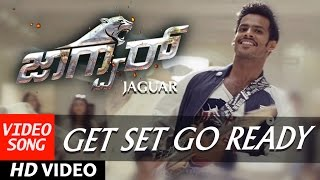 Jaguar Kannada Movie Songs | Get Set Go Ready Full Video Song | Nikhil Kumar,Deepti Saati |SS Thaman