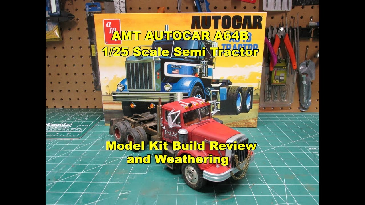 AMT AUTOCAR A64B SEMI TRACTOR 1/25 SCALE MODEL KIT REVIEW BUILD AMT1099