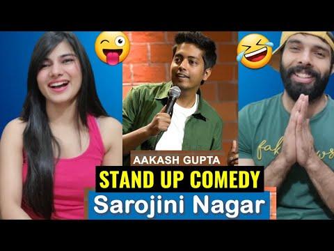 SAROJINI NAGAR | EXCUSE ME BROTHER | Stand-Up Comedy by AAKASH GUPTA | REACTION !!
