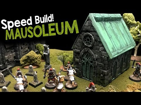 Building a Mausoleum for Dungeons & Dragons or Frostgrave!