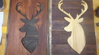 Rustic Pallet Upcycle Wooden Sign Cabin Decor Deer Check out some of the tools I own and use in my shop: Kreg Foreman: http://