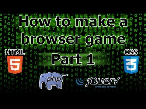 How to make a browser game - Part 1 - Introduction & Server setup