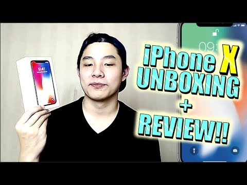 iPhone X UNBOXING + REVIEW! AWESOME FACE ID!