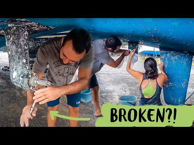 Lagoon Catamaran Repair Yanmar sail drives SD50 and Cone Clutch Replacement part 2